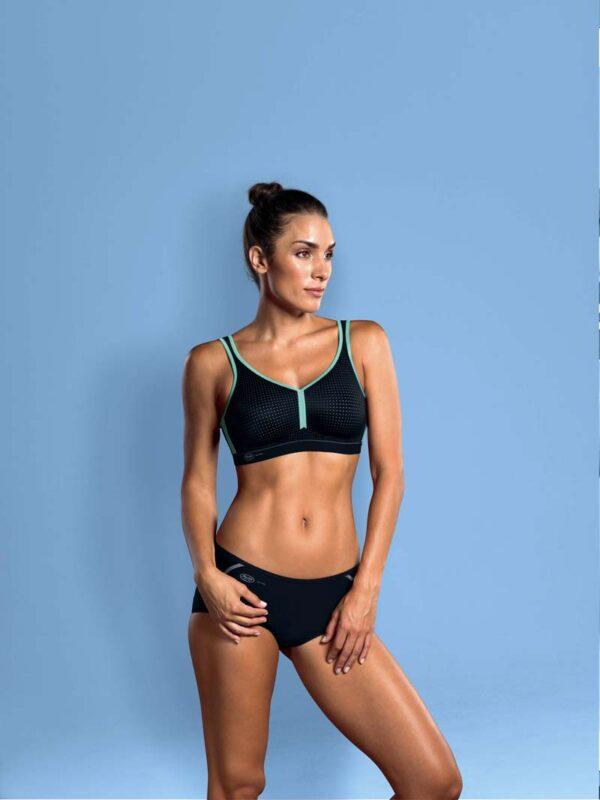 anita performance sport black pool blue