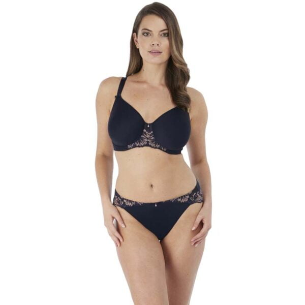 aubree navy moulded spacer and brief