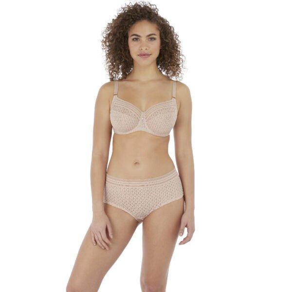 viva lace lace nat beige bra and short